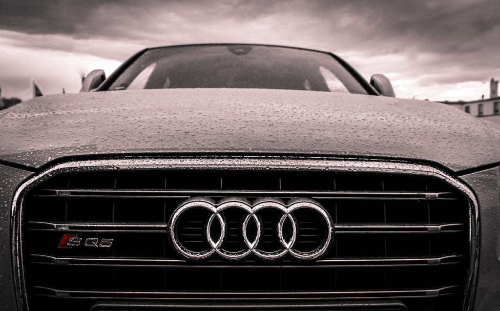 image of the front of an audi car