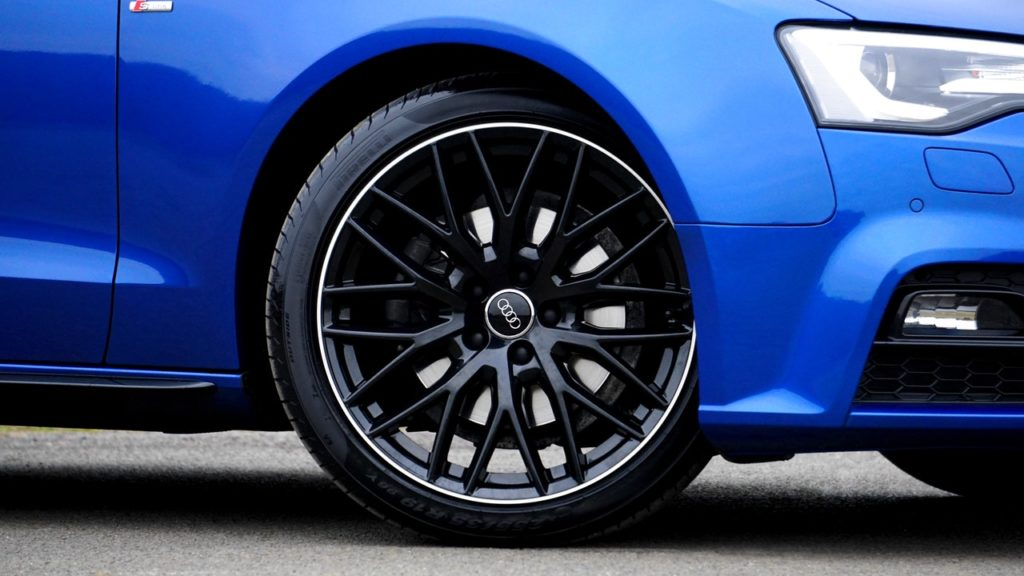 image of an audi front wheel