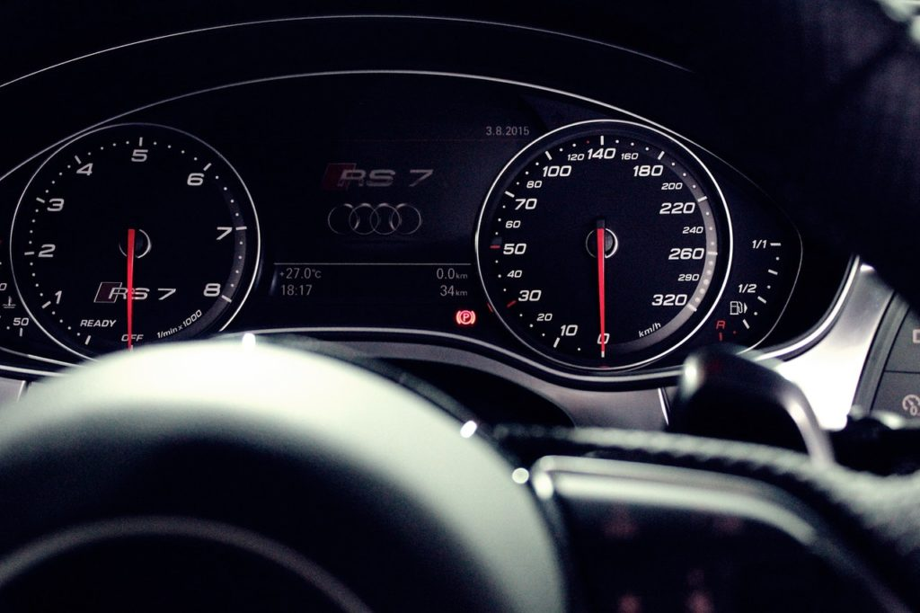 image of an Audi speedometer